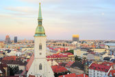 Bratislava skyline — Stock Photo