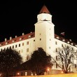 Bratislava Castle at night - Stock Photo