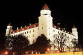 Bratislava Castle at night — Stock Photo