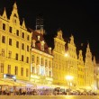 Wroclaw at night - Stock Photo