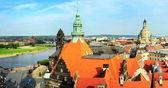 Panorama drážďan — Stock fotografie