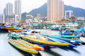 在黄昏的香港仔 — 图库照片