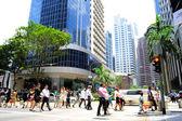 Hora do rush de singapura — Foto Stock
