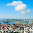 Singapore commercial port — Stock Photo