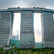 Marina Bay Sands at sunset — Stock Photo