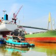 Foto Stock: Shipyard in Bangkok