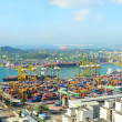 Singapore port - Stock Photo
