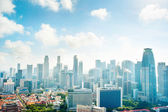 Urban Singapore in the morning — Stock Photo