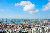 Puerto comercial de singapur — Foto de Stock