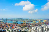 Singapore commercial port — Foto de Stock