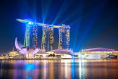 Marina bay sands nachts — Stockfoto