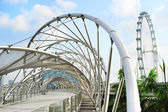 Helix Bridge in Singapore — Stock Photo