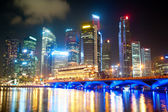 Singapore's nachts — Stockfoto