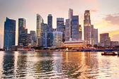 Singapur bei sonnenuntergang — Stockfoto
