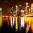 Stockfoto: Neon lights of Singapore