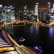 Singapore at night - Stock Photo