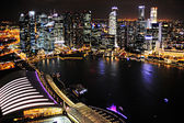 Singapore at night — Stock Photo