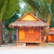 Thailand bungalow for tourist - Stock Photo