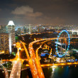 Singapore's night cityscape — Stock Photo