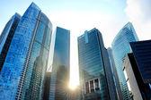 Rascacielos al atardecer — Foto de Stock