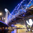 Helix Bridge at night — Stock Photo