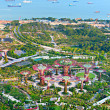 Gardens by the Bay bird's eye view — Stock Photo