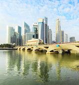 Singapore på morgonen — Stockfoto