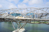 Helix bridge i singapore — Stockfoto