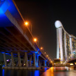 Marina Bay Sands Resort at night — Stock Photo