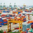Stock Photo: Port of Singapore