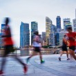 Running Singapore — Stock Photo