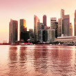 Sunset view of Singapore — Stock Photo