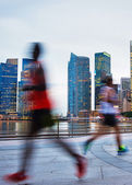 Urban running — Stock Photo