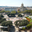 Central square in Barcelona — Stock Photo #34604215