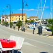 Stock Photo: View on quay in Novigrad, Croatia