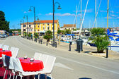 View on quay in Novigrad, Croatia — Stok fotoğraf