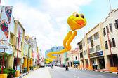 Singapore chinatown straat — Stockfoto