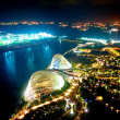 Stock Photo: Night view of Gardens by the Bay