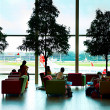 Lounge at Changi  Airport — Stock Photo