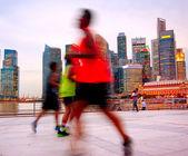 Jogging Singapore — Stock Photo