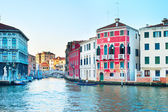 Venice at sunset — Stock Photo