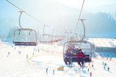 Ski-lift in Bukovel — Stock Photo