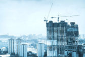 Singapore construction — Stock Photo