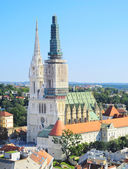 Zagreb Cathedral view — Stockfoto