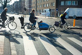 Amsterdam bicyclists — Stockfoto