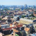 Zagreb skyline — Stock Photo