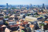 Zagreb skyline — Stock Photo