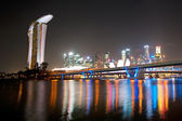 Singapore night cityscape — Stock Photo