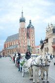 Carriage in Krakow — Stock Photo