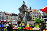 Food market. Czech Republic — Stock Photo